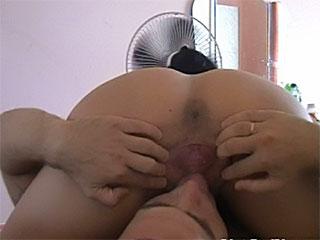 crammed her litlle bald pussy